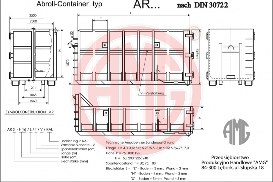 Abroll Container AR